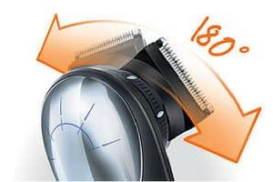 Philips QC5570 kan rotera på huvudet 180 grader