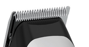 Denna wahl hårtrimmer har självslipande kolstålblad